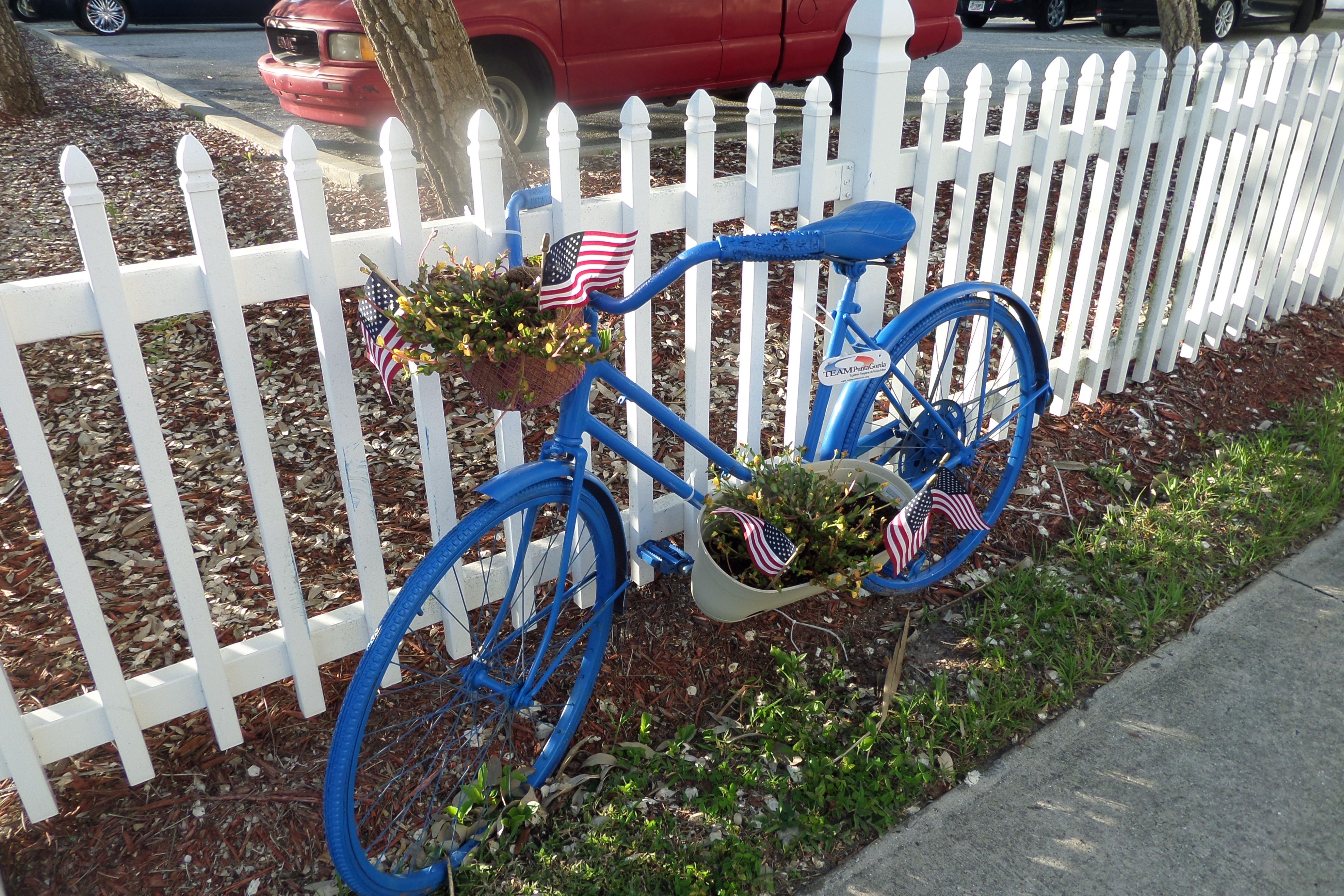 Bikes in paradise art project placed around town punta
