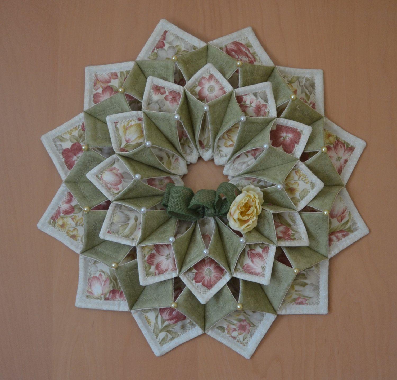 Www Fotoventasdigital Com Diy Burlap Wreath That Folding: Free Fold And Stitch Wreath Instructions