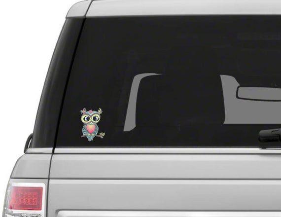 Owl Sticker  Pastel Owl Sticker  Sticker Owl Decal  Owl