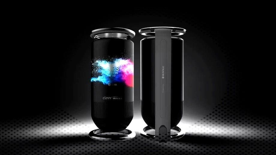 Royole Mirage smart speaker has a wraparound touchscreen display -The Royole Mirage smart speaker h