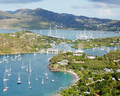 English Harbour and Nelson's Dockyard in Antigua.........visited in 2006