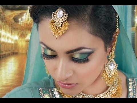 Jade and Black Smokey Eye Makeup - Indian, Asian, Pakistani Make Up Tuto.
