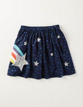 48d8409e4 Navy Stars Sparkly Explorer Skirt Boden | little clothing. little ...