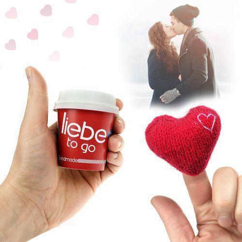 Liebe to go - mit handgefertigtem Herz | Handgefertigtes ...