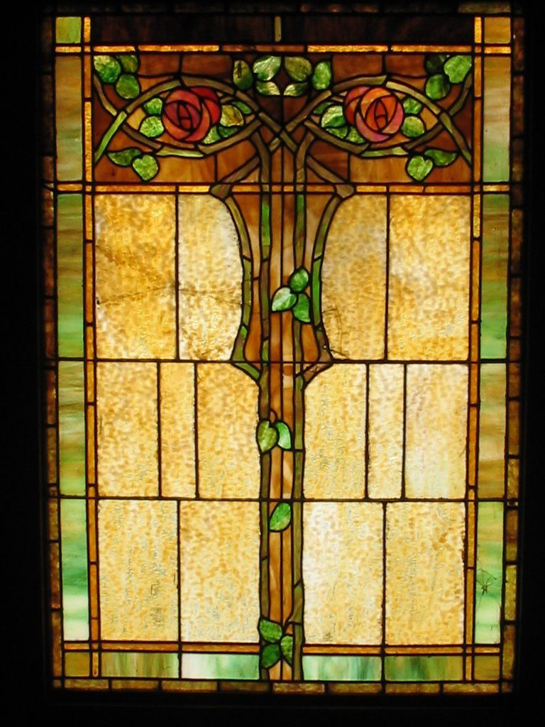 Stained Glass Window Kinney Heights 1904 Craftsman Photo Adam Janeiro Stained Glass Panels Stained Glass Windows Stained Glass