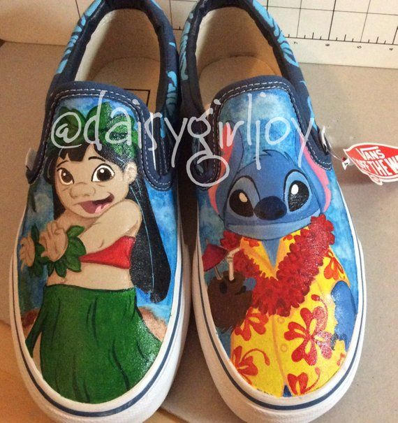 ed965f00c1e Custom hand painted Disney Lilo   Stitch shoes