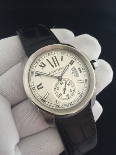 e318819749b Cartier Calibre DE 3389 White Face 42mm Automatic Men s Watch ...