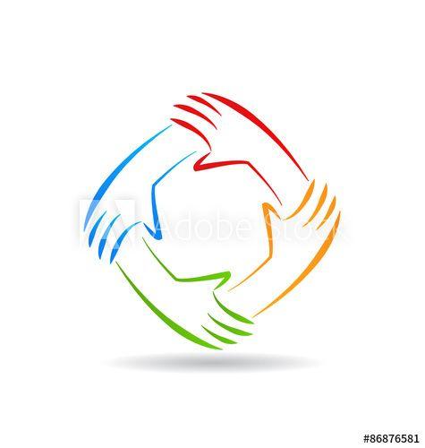 Teamwork Unity Hands Logo Hand Logo Unity Logo Political Logos