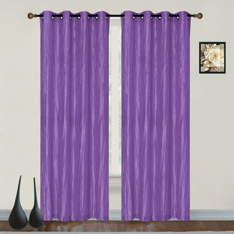 Dainty Home Verona Room Darkening Grommet Single Window Curtain Panel Walmart Com In 2020 Panel Curtains Grommet Curtains Purple Curtains
