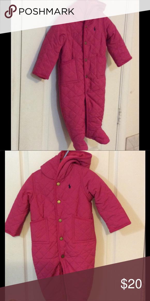 0da7e8d16 Baby girls snowsuit Ralph Lauren baby girl pink snowsuit. Ralph ...