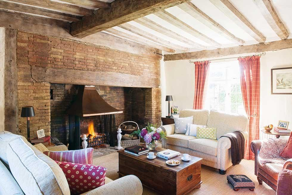 A Classic Thatched Cottage From The Outside Interior Of Lesley And Kevin Whites Suffolk Farmhouse Living RoomsCountry