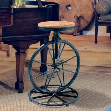 Michaelo Bicycle Wheel Adjustable Bar Stool Www Hayneedle Com
