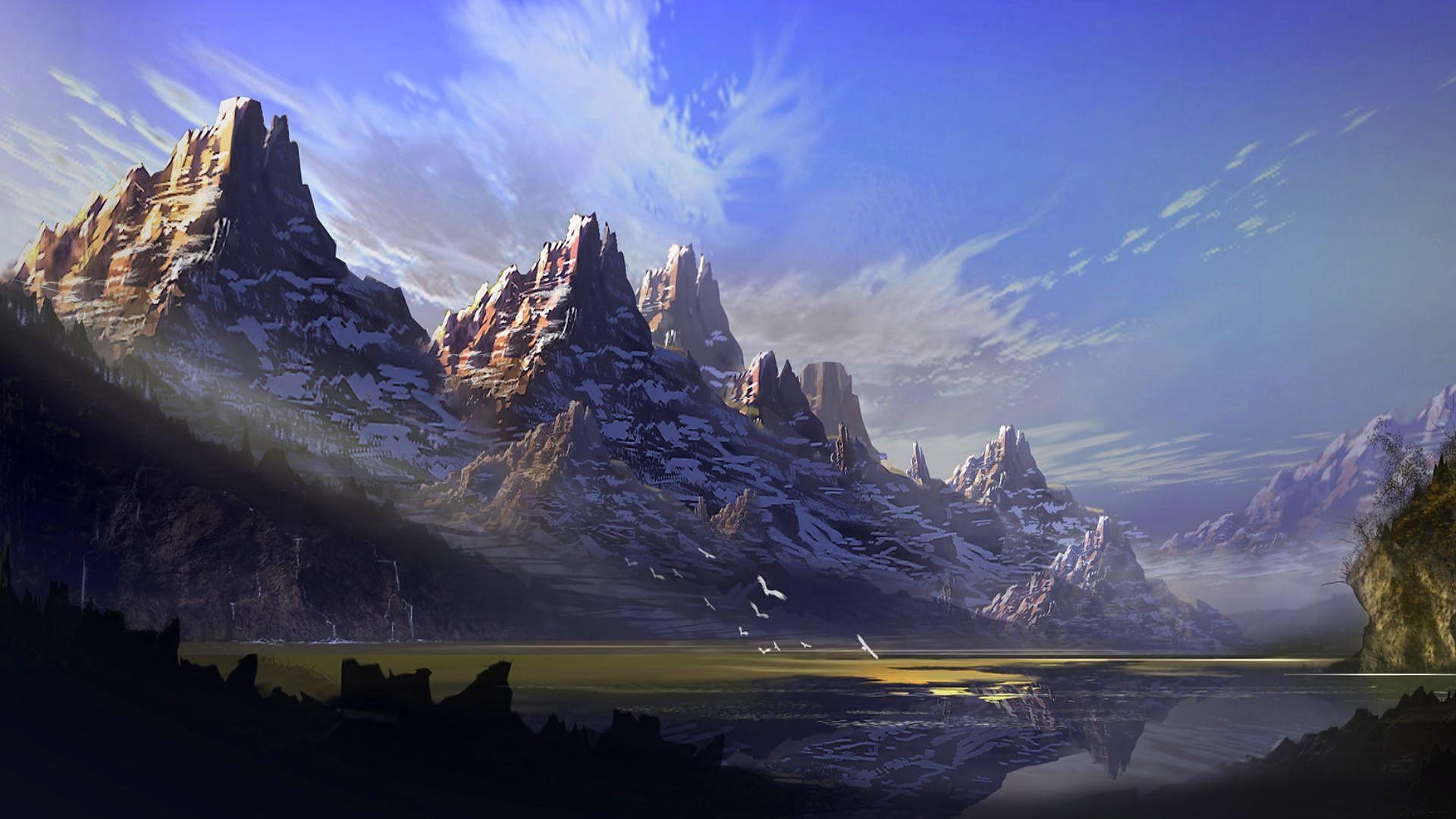 Fondo Escritorio Picos Montañas Nevadas: Montañas Nevadas, Paisajes