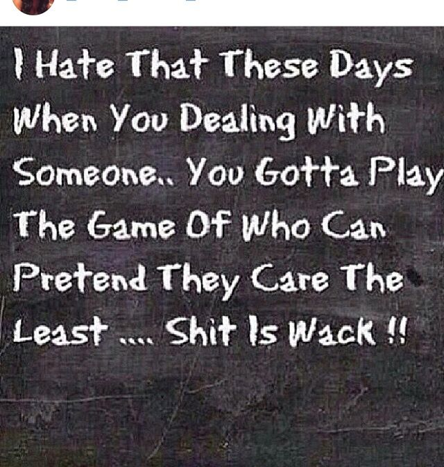 At my age I'm not playing games with these niggas anymore! Get with it or get GONE #thefuck