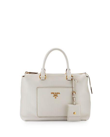 04e96c8c75594a PRADA Vitello Daino Zip Tote Bag, Black. #prada #bags #shoulder bags #hand  bags #leather #tote #lining #