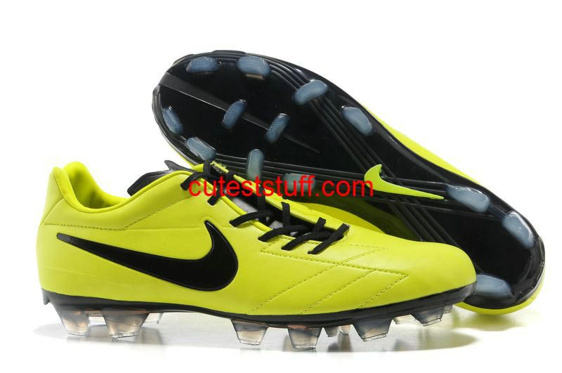 official photos b6a65 45b9d Nike Total 90 Laser IV FG Cleats Fluorescent Green Black