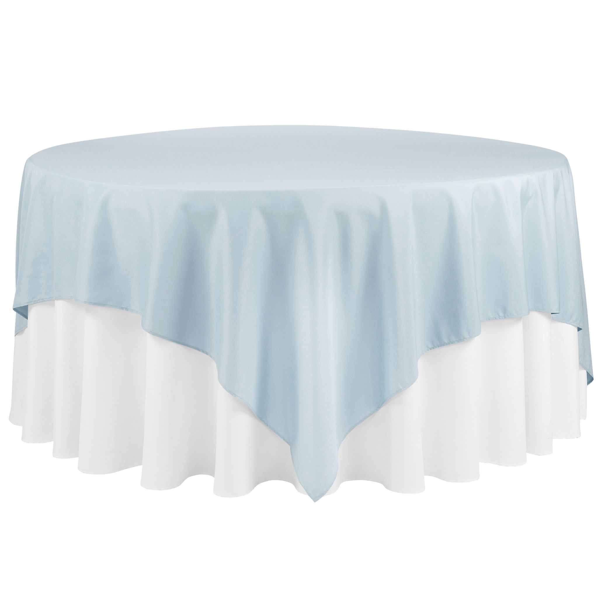 """Polyester Square 90""""x90"""" Overlay/Tablecloth Dusty Blue"""