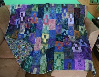 "My very first quilt - and I intend to keep it for myself! It's called ""Opposites Attract"" www.hughsbooks.ca"