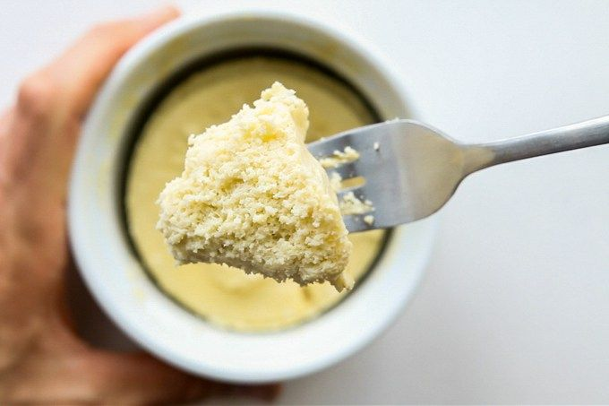 Healthy Low Carb Vanilla Mug Cake   Recipe   Protein mug ...