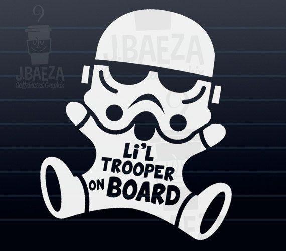 Stormtrooper On Board Car Decal For The Mini Star Wars Fan