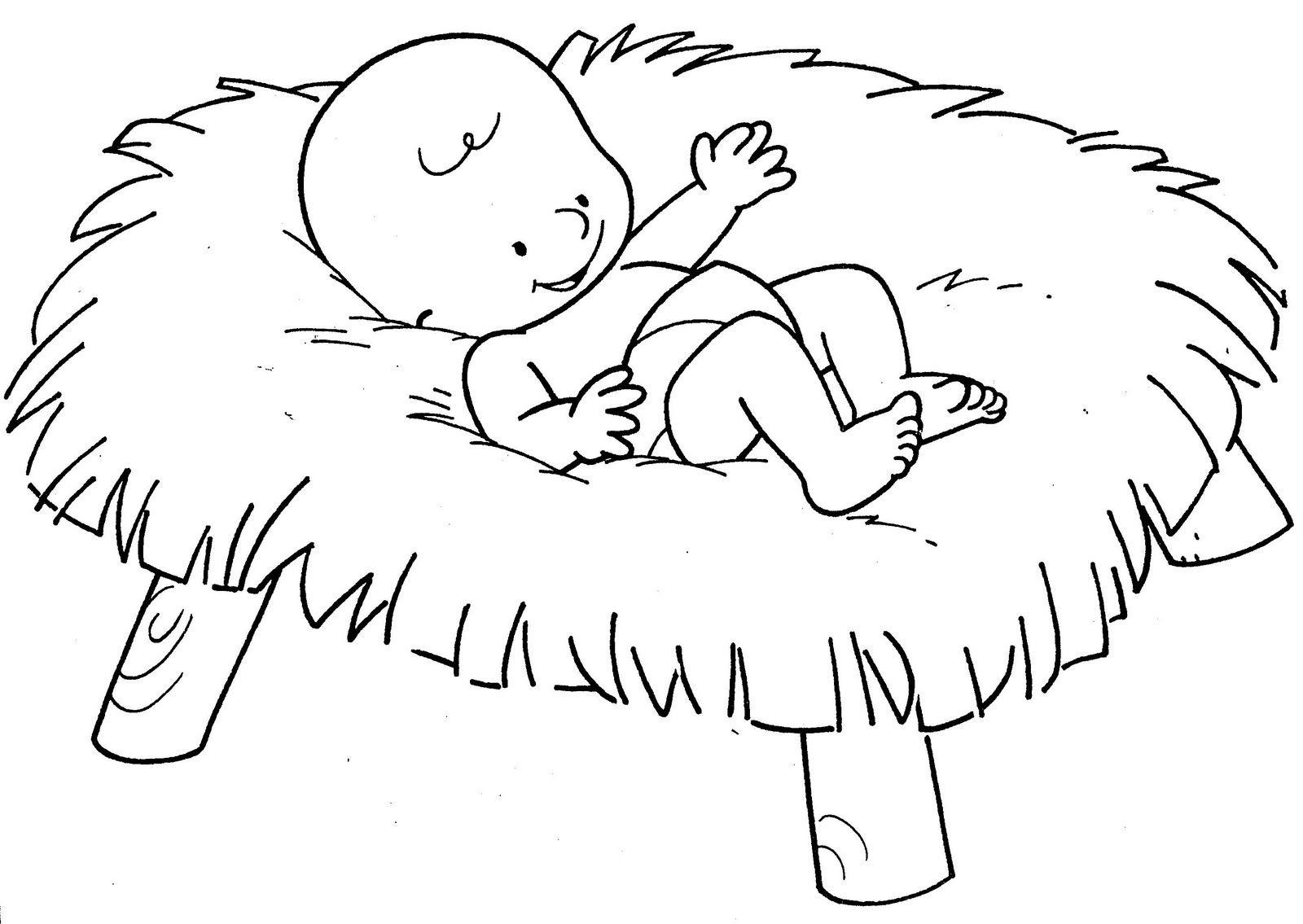 Moderno Bebé Jesús Navidad Para Colorear Modelo - Dibujos Para ...
