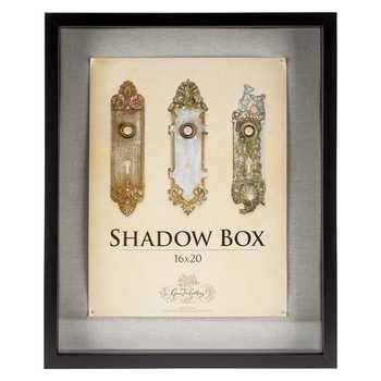 16 X 20 Black Front Loading Shadow Box Shadow Box Hobby Lobby Shadow Box Display Case Wood Shadow Box