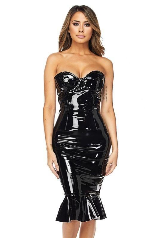 79903bf2ddee Lexi Mermaid Latex Tube Dress | vixen