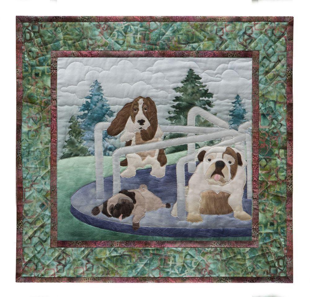 Mckenna Ryan Quilt Pattern Dog Park 5 Doggone Dizzy Basset Hound Pug Bulldog Pineneedles Dog Quilts Applique Quilt Patterns Quilts