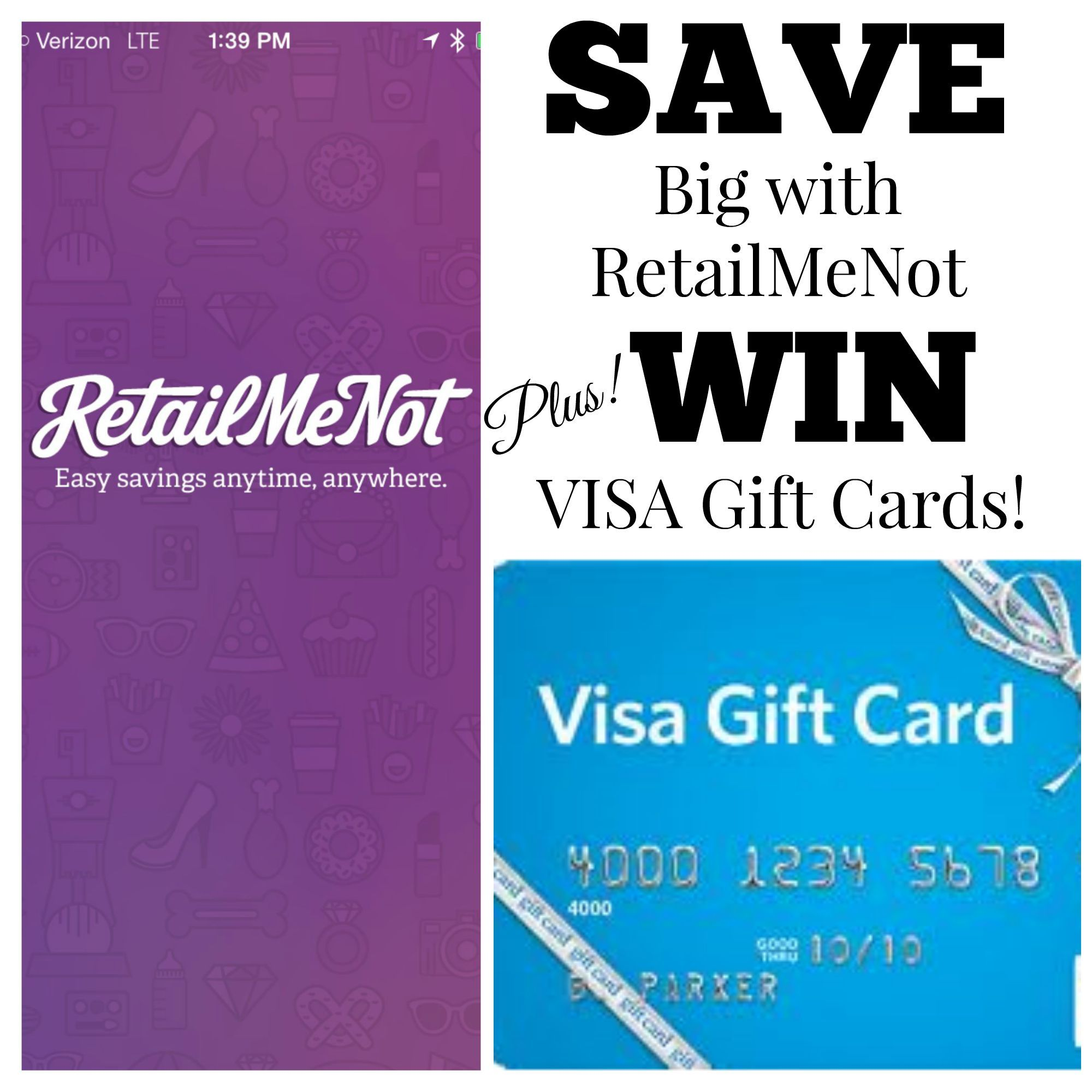 Save With Retail Me Not Plus Win Visa Gift Cards From Nodomesticdivas
