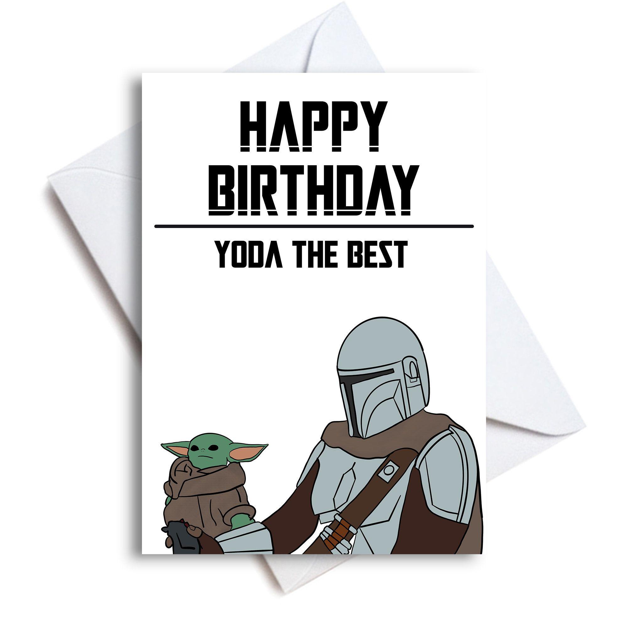 Baby Yoda Happy Birthday Card Yoda The Best Baby Yoda Card Etsy In 2021 Yoda Card Yoda Happy Birthday Happy Birthday Cards