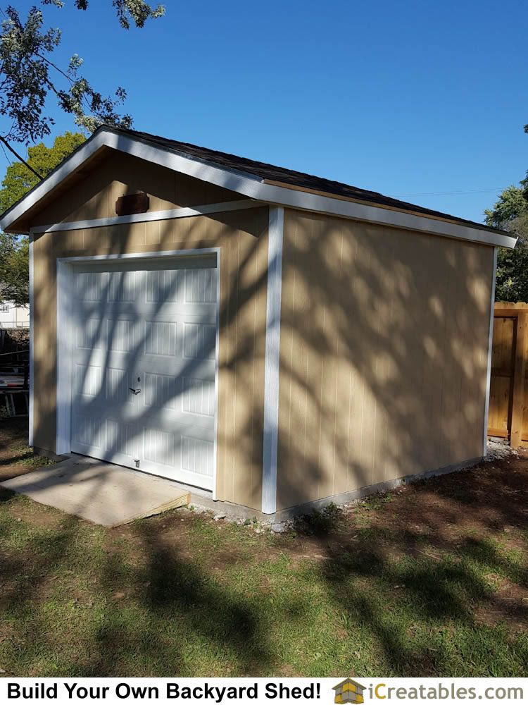 12x12 Backyard Storage Shed Built In Merriam Kansas Built On A Concrete Slab Perfect For Storing Large Outdoor Items Backyard Storage Sheds Shed Plans Shed