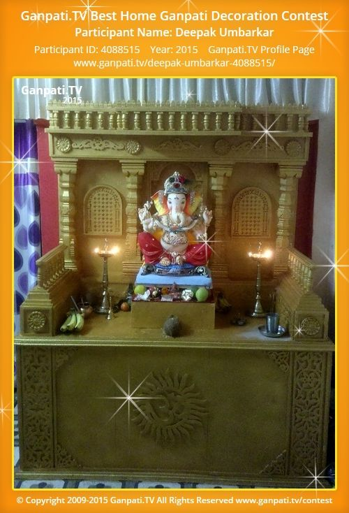 Deepak Umbarkar Home Ganpati Picture 2015. View More Pictures And Videos Of Ganpati  Decoration At