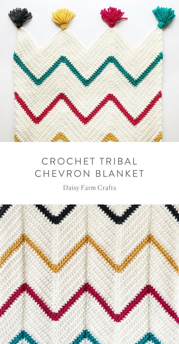 Free Pattern - Crochet Tribal Chevron Blanket | Crochet and knitt ...