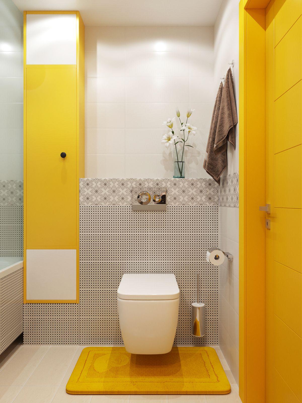 интерьер маленькой ванной комнаты совмещенной с туалетом Bathroom