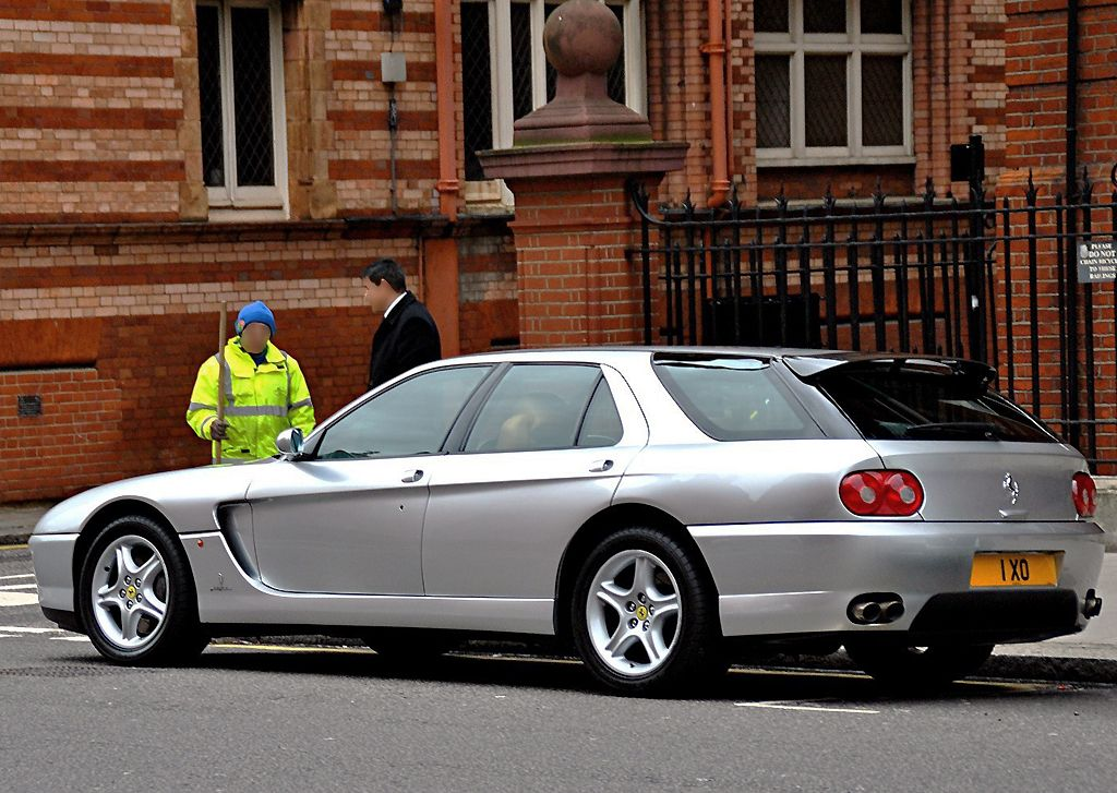One of the seven 1993 Ferrari 456GT Venice station wagons made ...