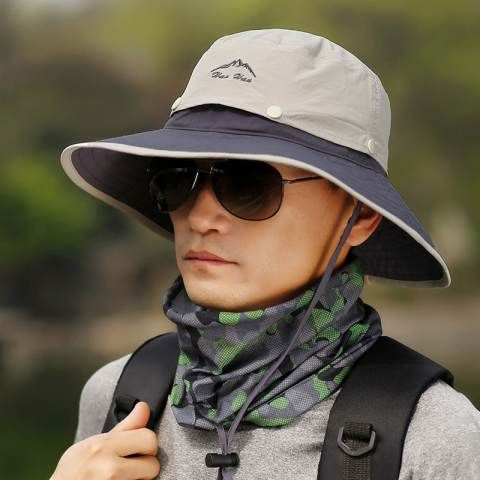 2d963c7848a UV package fishing hats for men outdoor travel bucket hat