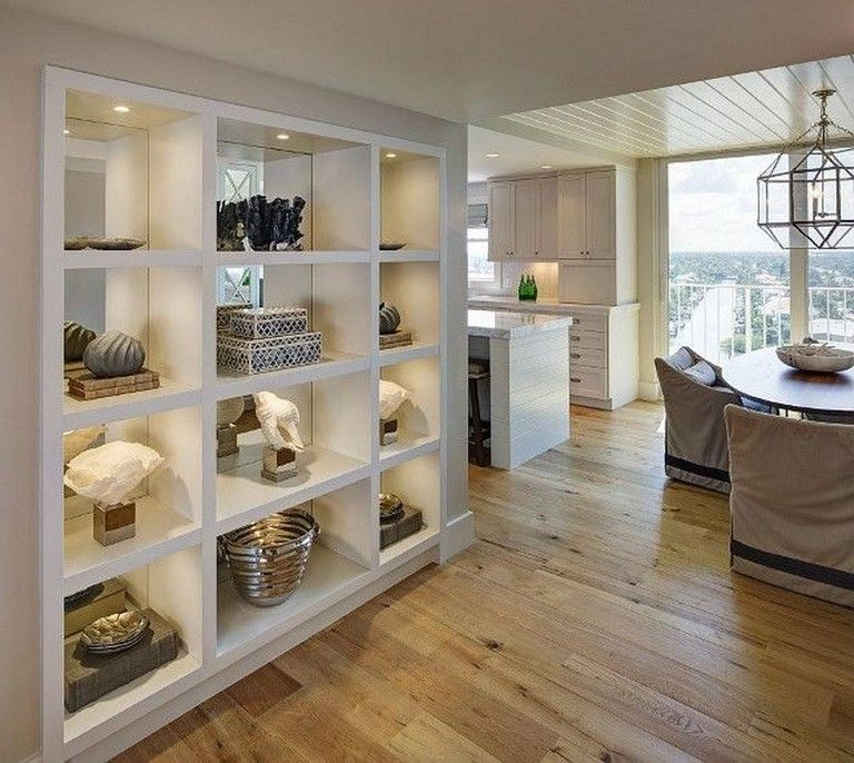 51+ Lovely Open Kitchens With Unique Partitions And Room