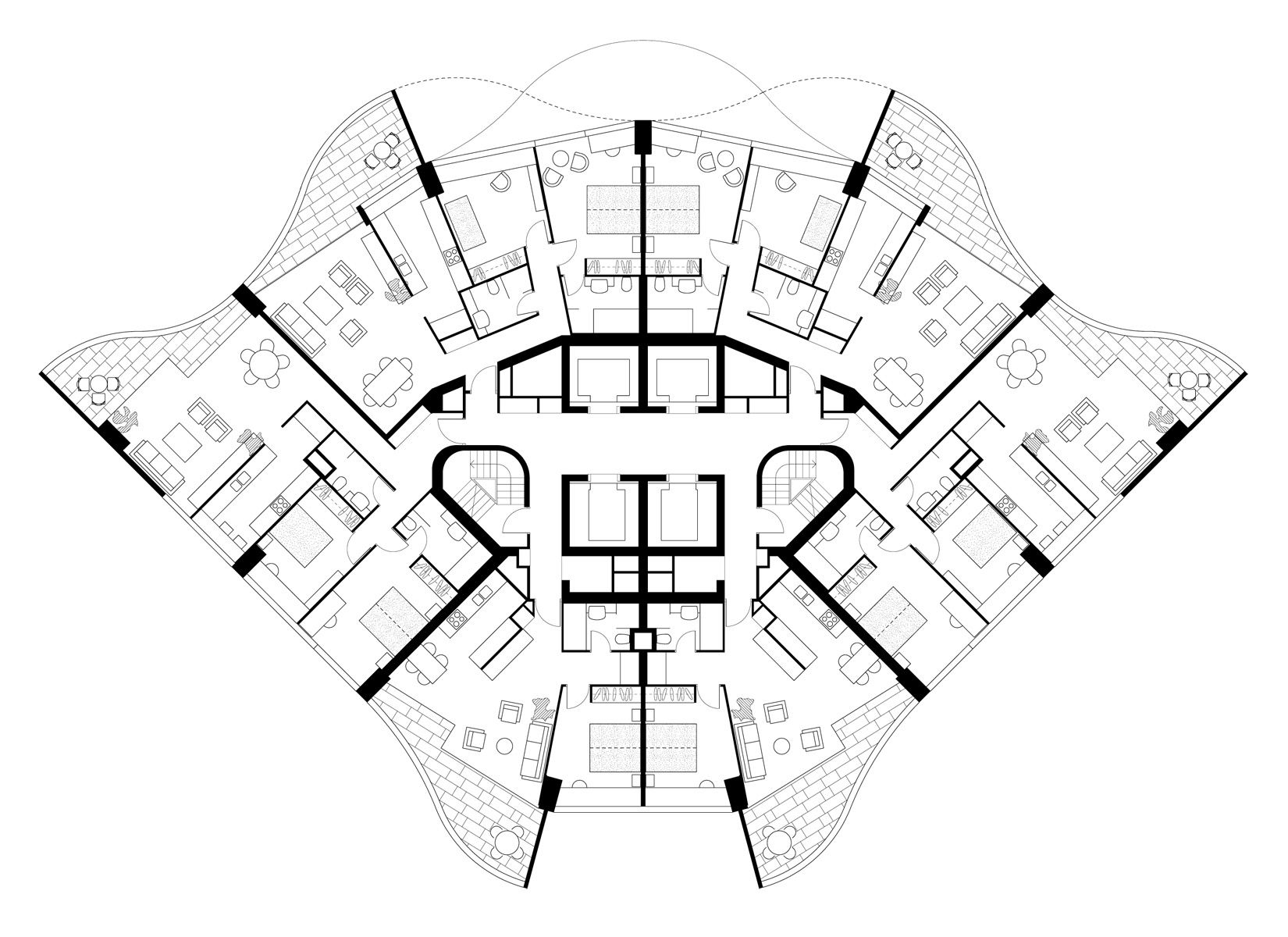 Penthouse Apartment Floor Plans Harry Seidler Associates