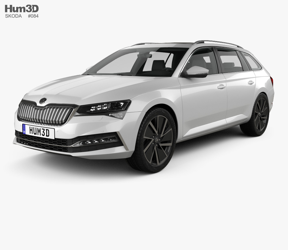 Skoda Superb Combi Iv 2020 3d Model In 2020 Skoda Superb Skoda 3d Model
