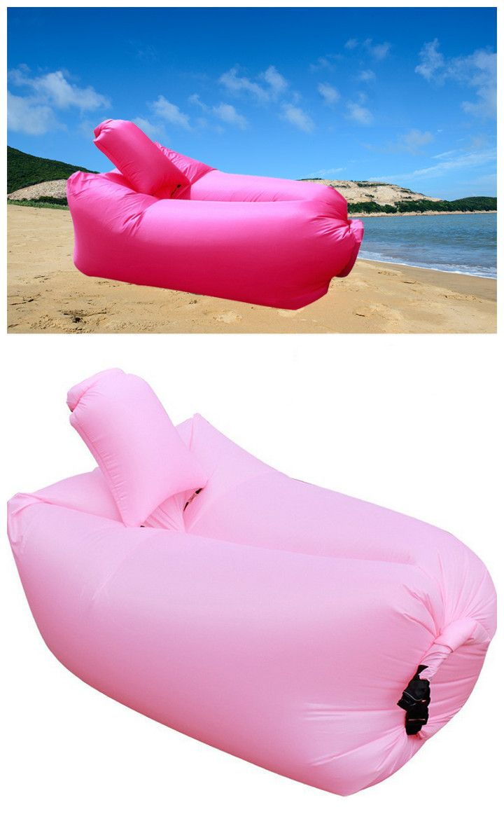 Outdoor portable lazy sofa fast inflatable folding air sleeping bag