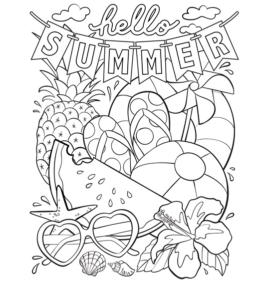 Summer Coloring Pages are great activities for kids to do ...