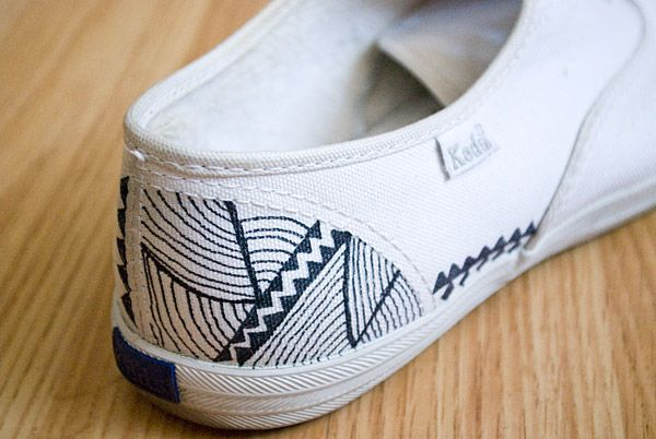 fabric markers on Keds.