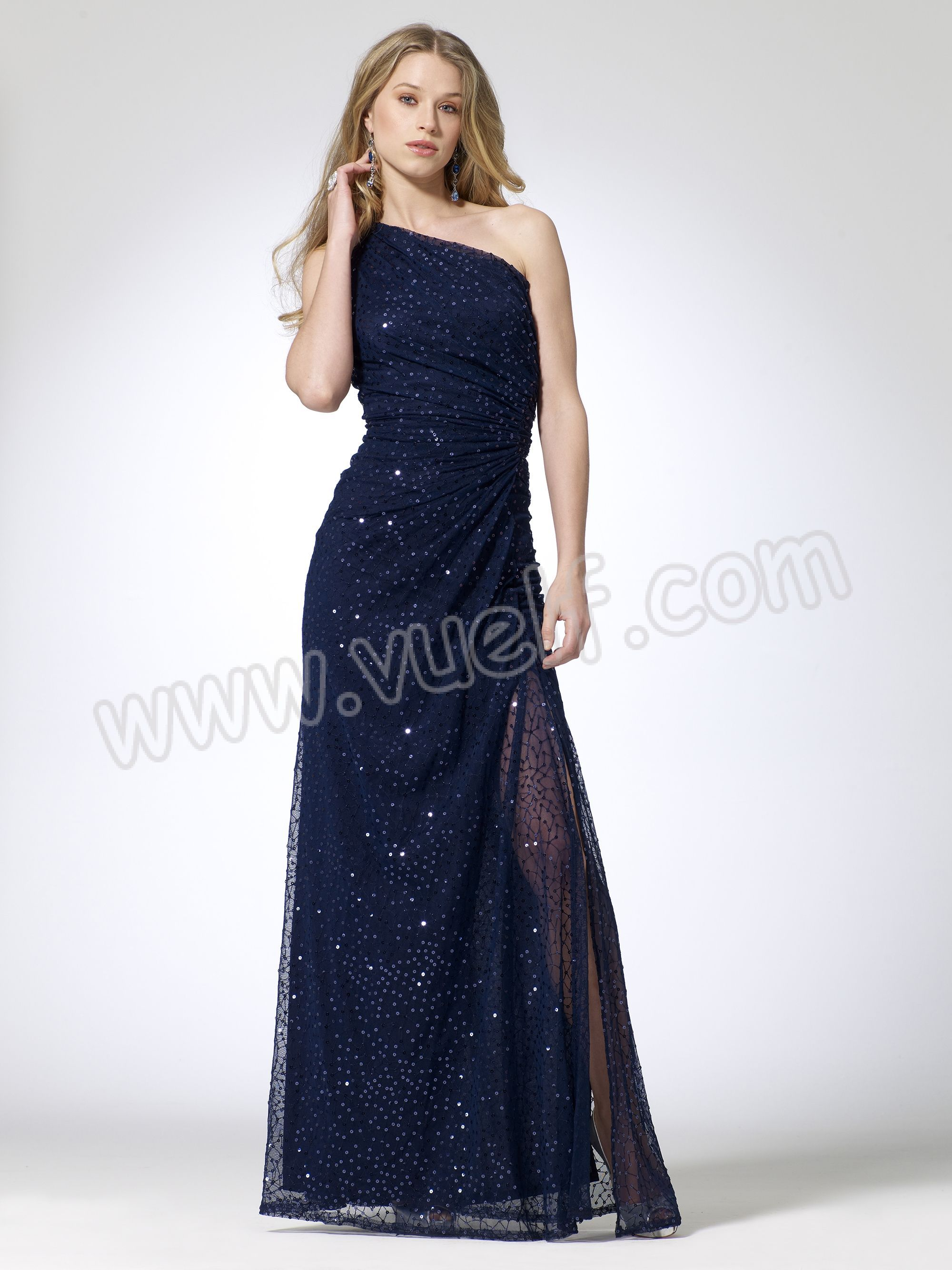 Sequin Ruched One Shoulder Gown | Prom Dresses | Pinterest | Sequins ...