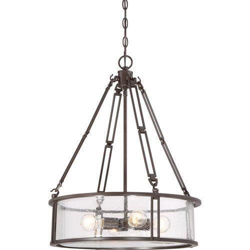 Buchanan Western Bronze Four Light Drum Pendant Quoizel Drum Pendant Lighting Ceiling Ligh