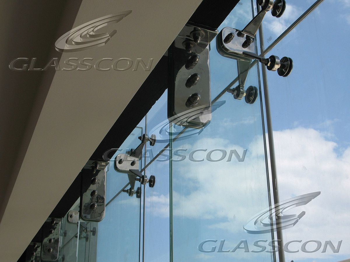 Spider Glass Frameless Glazing Systems Point Fixed Curtain Picture