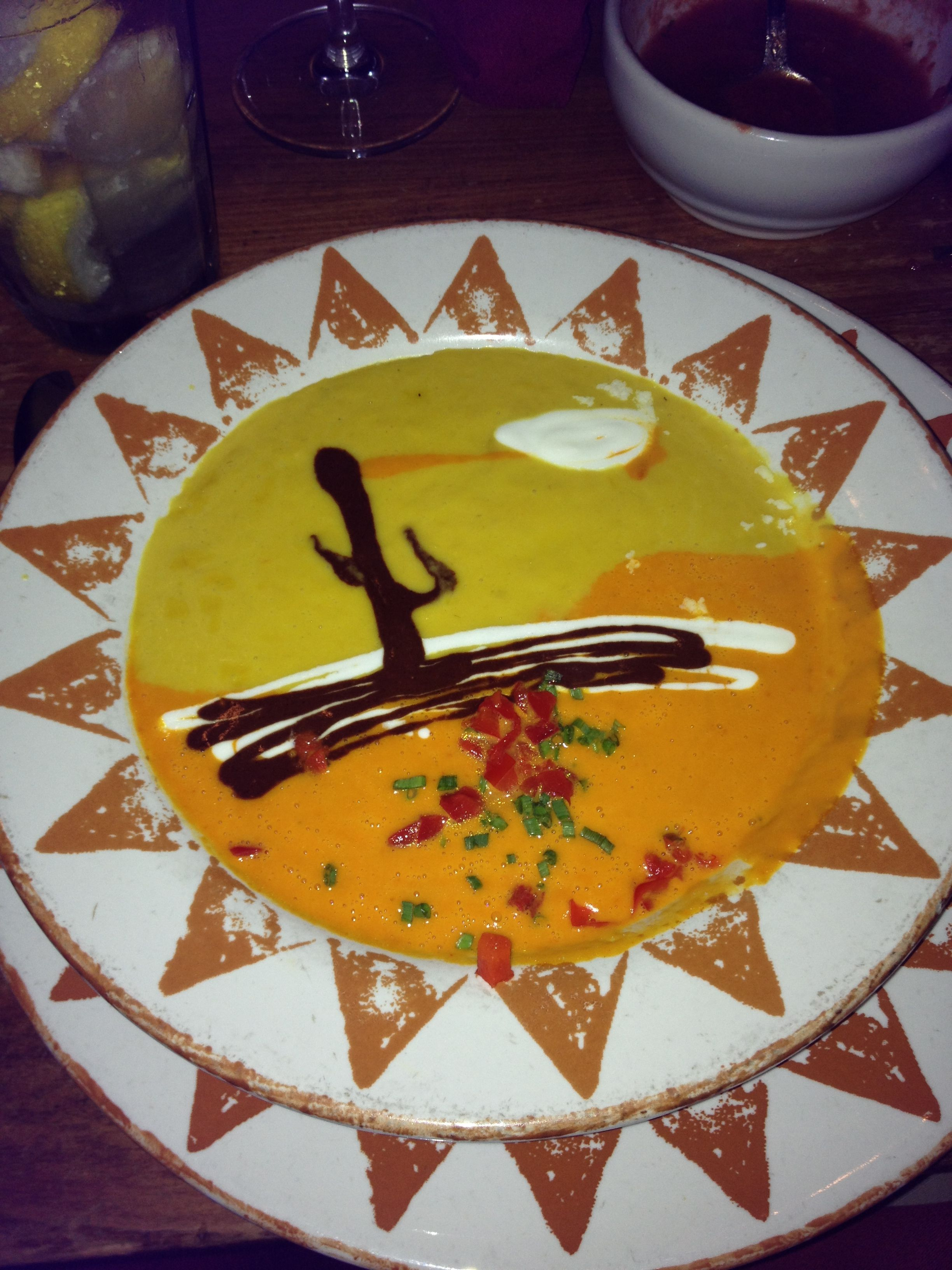 painted desert soup at santa fe cafe in hilton head island south