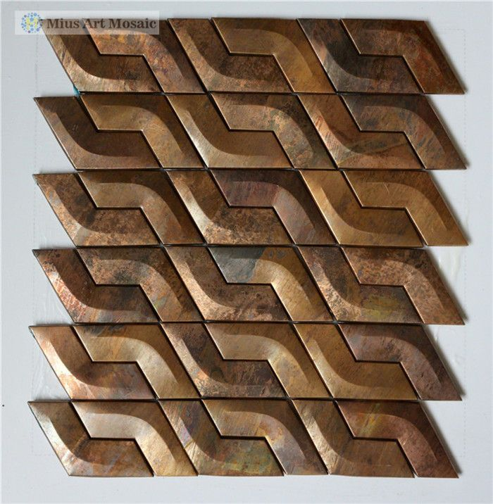 Aliexpress.com : Buy China antique brass wall tiles metal kitchen ...