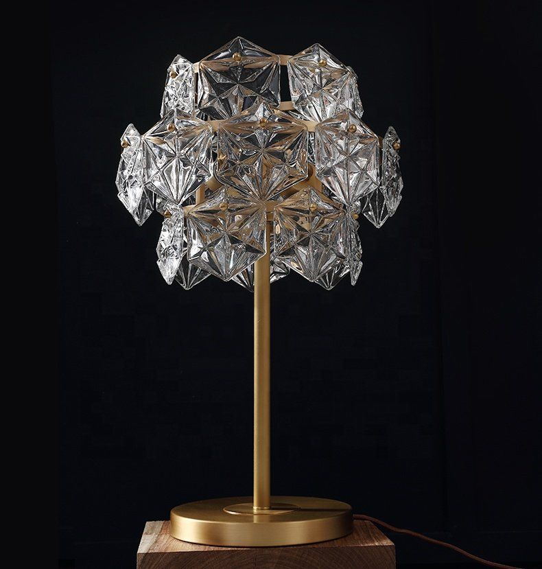 Modern Fashion Clear Crystal Table Lamp Luxury Retro Gold K9 Crystal Chandelier Table Lamp Simig Chandelier Table Lamp Crystal Table Lamps Table Lamp Luxury