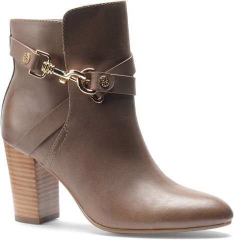Colleen taupe booties by Isola // Arco Avenue // Fall 2014 // #heels #dressbooties