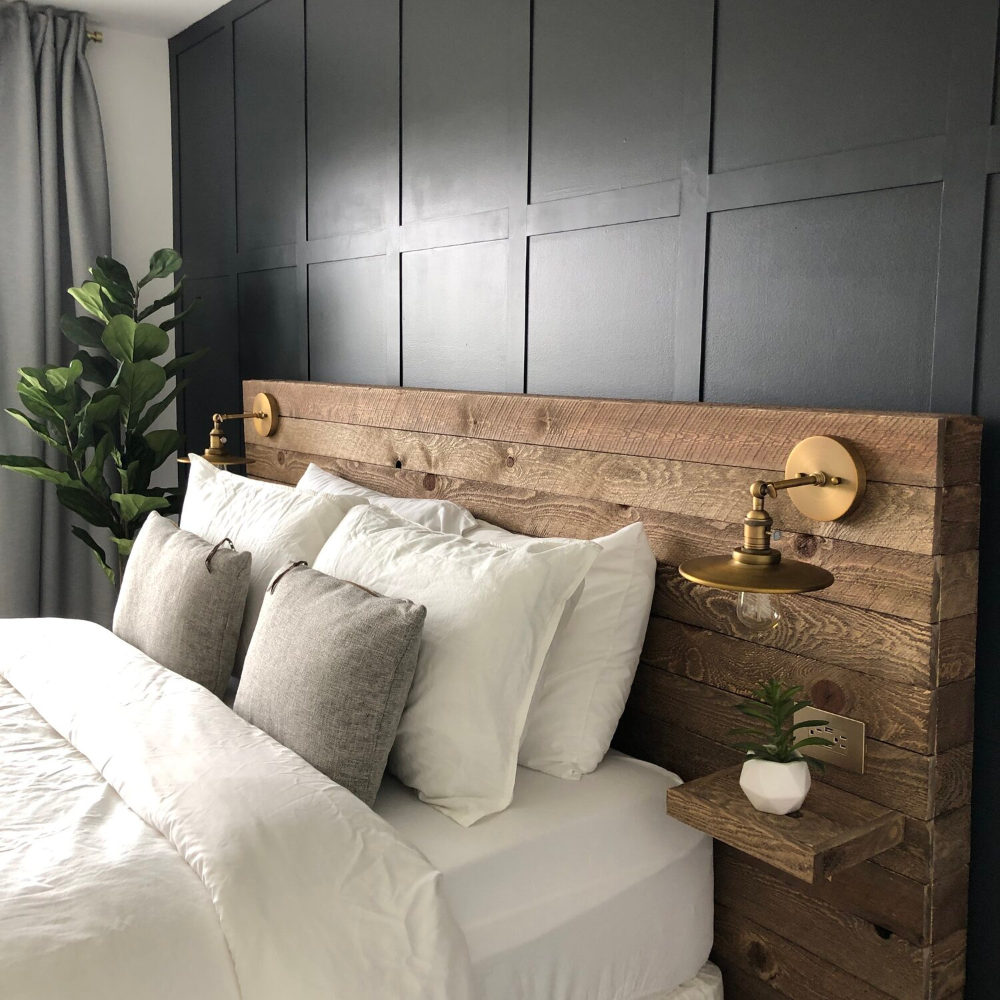 DIY Reclaimed Wood Headboard — Colors and Craft in 2020 ...
